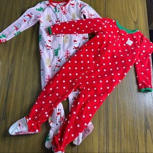 Just One You Christmas full zip onesie bundle